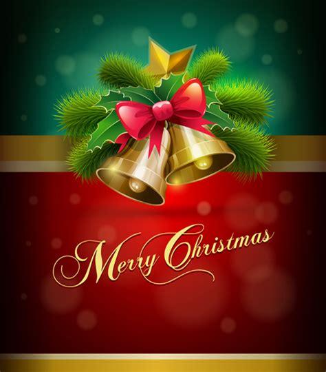 imagenes feliz navidad laura merry christmas bells and bow background vector vector