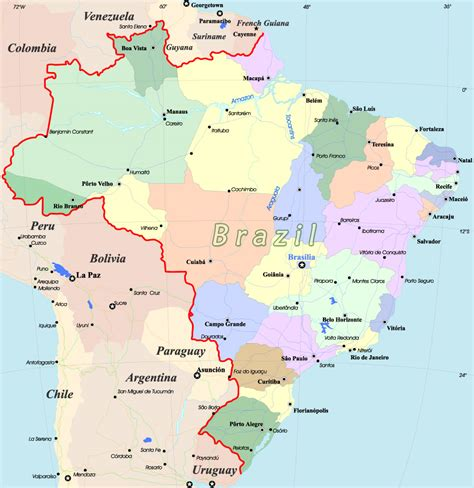brazil map maps update 920967 brazil tourist attractions map