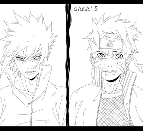 V Anime Drawing by Sasuke Vs Lineart By Sama15 On Deviantart