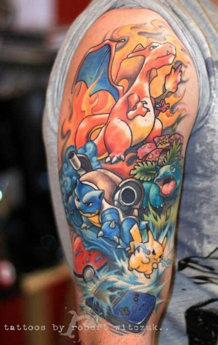 tattoo fail pokemon pokemon tattoo charizard pikachu blastoise venasaur
