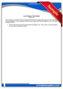free printable lien release real estate form generic