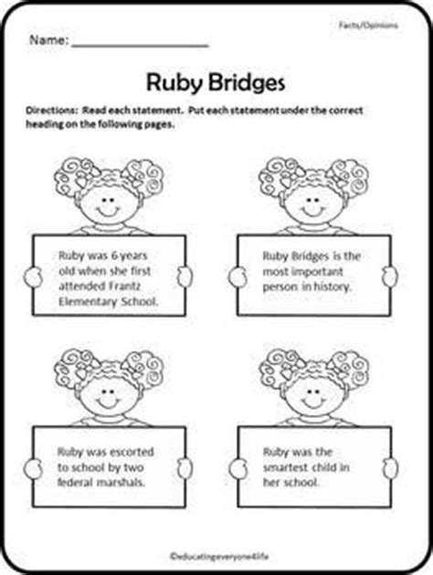 Ruby Bridges Worksheets by The World S Catalog Of Ideas