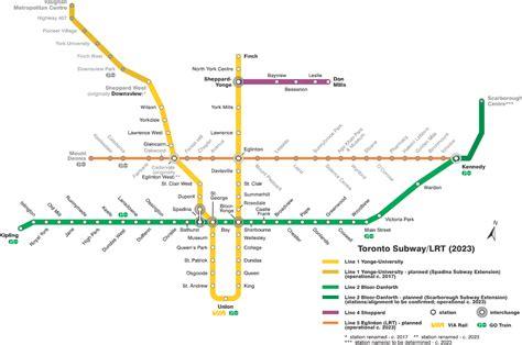 toronto subway map file ttc subway map 2023 svg