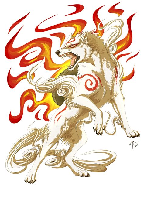 okami amaterasu by mayhwolf on deviantart