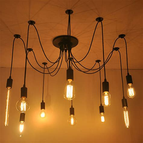 Diy Bulb Chandelier Aliexpress Buy Diy Edison Bulb Pendant Lights E27 L Bulbs Fixtures For Modern Pendant