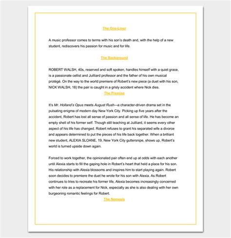 screenplay format template screenplay outline template 9 worksheets for word pdf