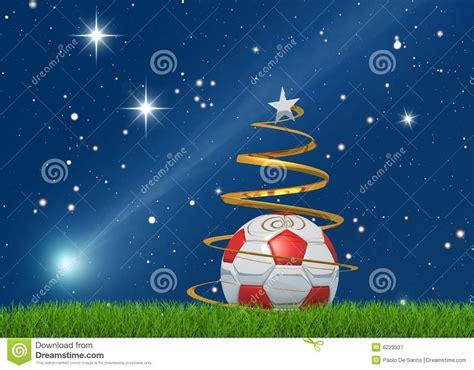 christmas soccerball  comet royalty  stock photography image