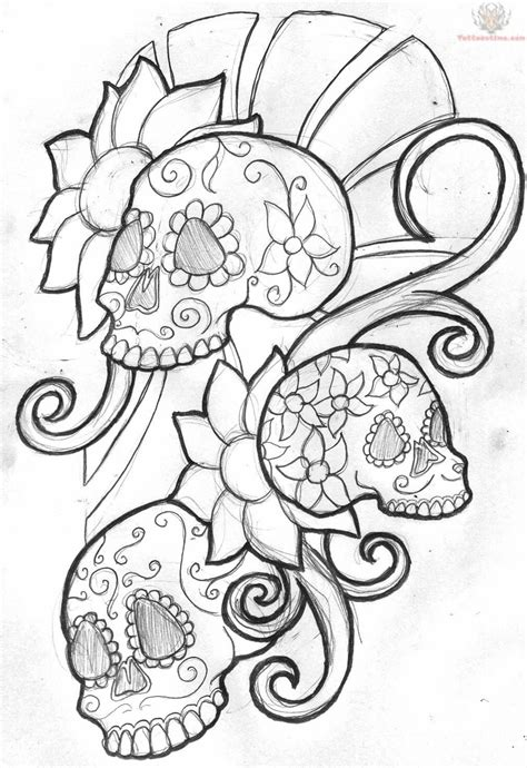 mexican skull tattoo designs mexican sugar skull design