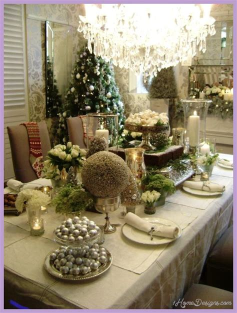 christmas decoration restaurant ideas holliday decorations dining table holiday decor 1homedesigns com