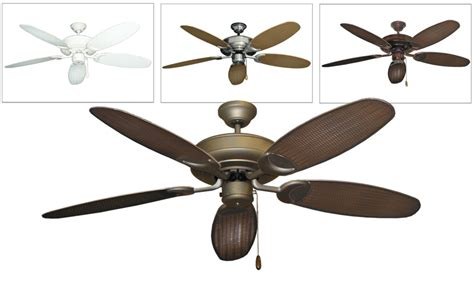 Wicker Ceiling Fans by Raindance Tropical Outdoor Ceiling Fan W 52 Quot Wicker