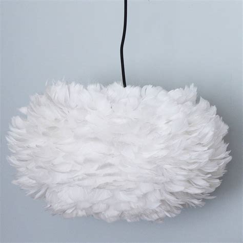 Feather Pendant Light White Goose Feather Lshade By Primrose Plum Notonthehighstreet
