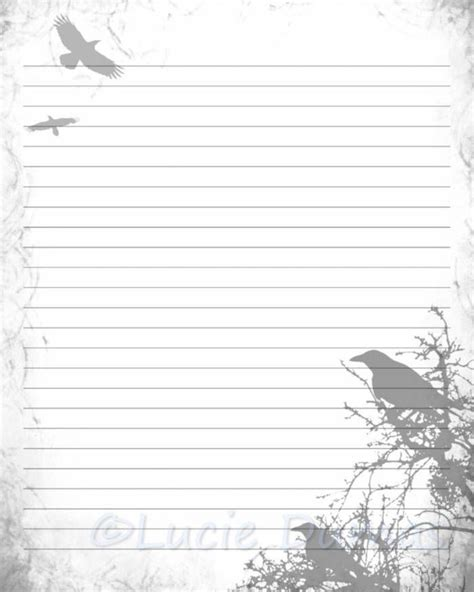 free printable journal pages lined digital printable journal page stationary 8x10 jpg
