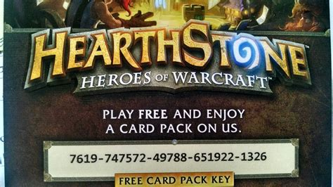 Hearthstone Pack Giveaway - free hearthstone card pack pcmasterrace
