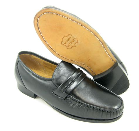 X Dress Shoes by Climate X 21592 4 Eee Wide Width Mens Black Slip On Loafers Leather Dress Shoes Ebay
