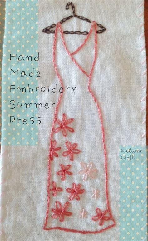 Summer Embroidery Dress made embroidery summer dress