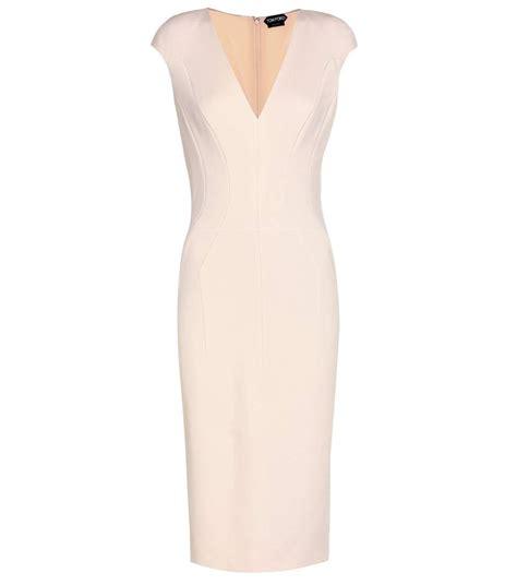 Lq Dress Strect tom ford stretch crepe dress in light eude modesens