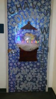 winter themed decorating 2014 chaves county finance ihc dept door decoration entry