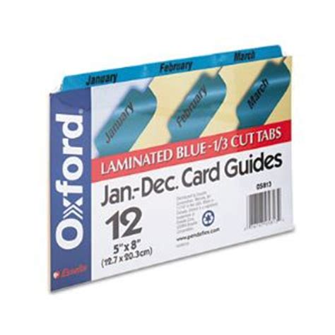 oxford index card tab template 1 5 laminated tab index card guides monthly 1 3 tab manila