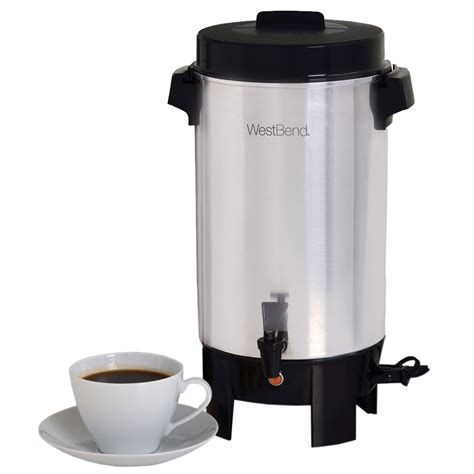 Coffee Maker West Bend focus 58002 west bend 174 42 cup urn coffee maker w level markings aluminum