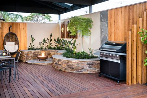 Amenagement Exterieur Coin Barbecue by Amenagement Jardin Coin Barbecue Amenagement Devant Maison