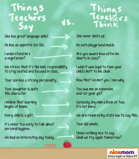 teaching how teachers and parents can reach their brains and hearts books things teachers say vs things teachers think more lols