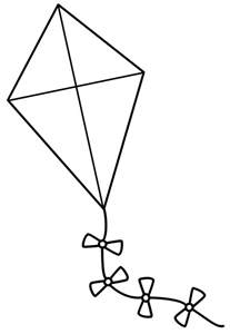 Kite  Free Download Clip Art On Clipart Library sketch template