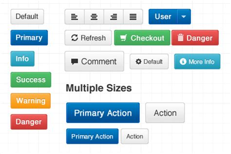 bootstrap layout buttons bootstrap ui framework for speedy responsive web