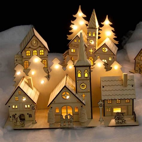 457 Best Christmas Villages Images On Pinterest Lighted Houses