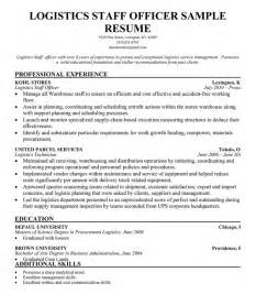 Logistics Resume Objective Examples Example Resume Logistics Coordinator Resume Sample