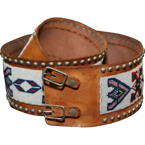 american indian osage s beaded belt from