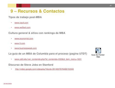 Mba Argentina Ranking by Presentacion Mba En Usa 20jun2008 Argentina