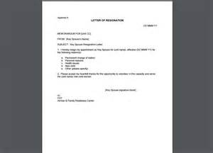 10 resignation letter template exles templates assistant