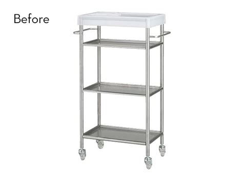 ikea hack kitchen cart before and after a super easy grundtal cart ikea hack 187 curbly diy design decor