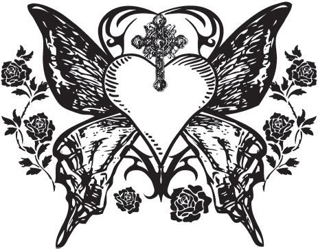 gothic wings tattoos designs images 36 gothic heart tattoo designs