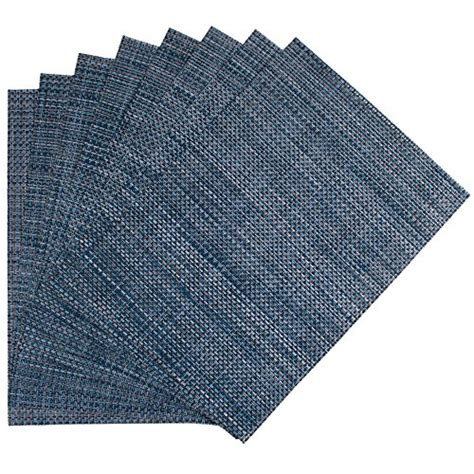Buy Wholesale Woven Vinyl Placemat by Benson Mills Longport Woven Vinyl Placemat Metallic Blue