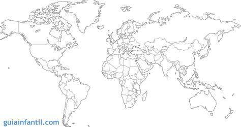 imagenes de un planisferio en blanco y negro mapamundi para ni 241 os de primaria