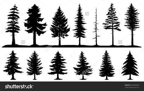 silhouette tattoo forest silhouette conifer tree silhouettes on the