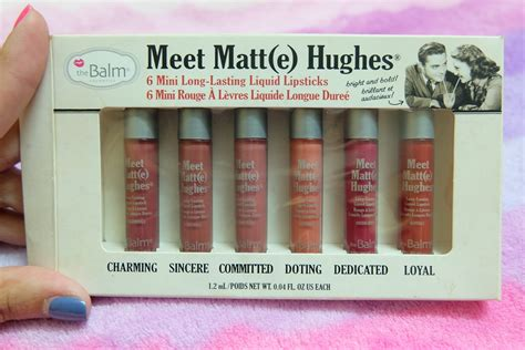The Balm Meet Matt E Hughes Comitted Mini 1 2 Ml Kecantikan Diskon พามาม ง the balm meet matte hughes 6 mini lasting