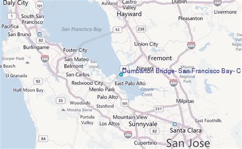 san francisco bridges map dumbarton bridge san francisco bay california tide