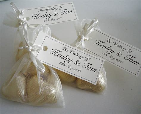 Wedding Favors Bags 20 wedding favour organza bags by tailored chocolates and