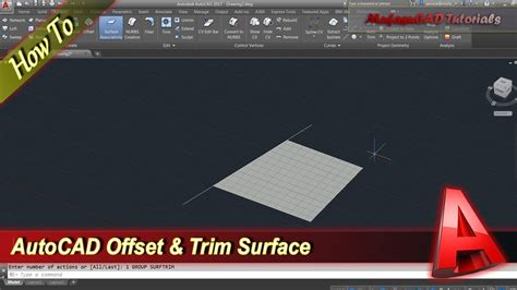 autocad tutorial trim command autocad tutorial how to use offset and trim surface