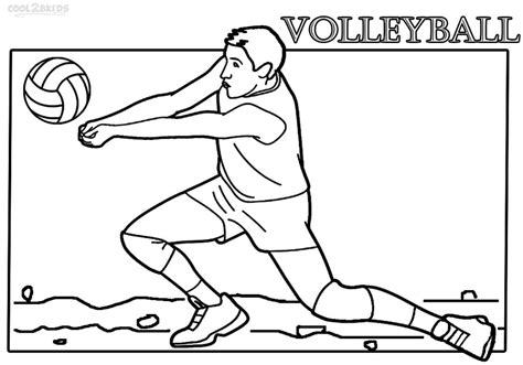 coloring pages of volleyball players printable volleyball coloring pages for kids cool2bkids