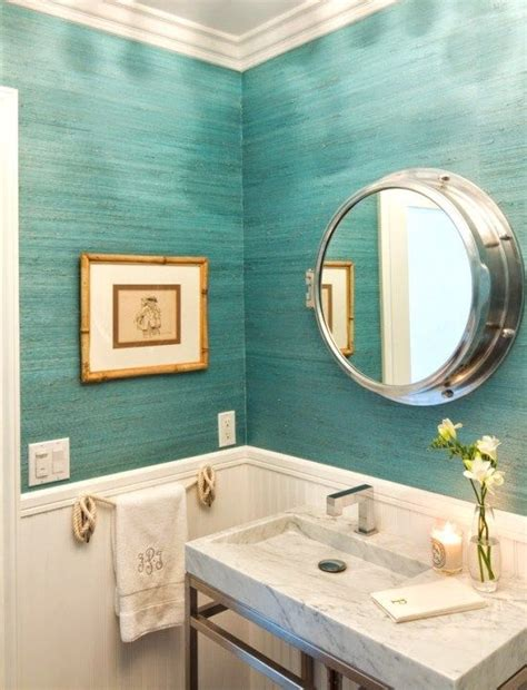 beach house bathroom mirrors turquoise infused coronado beach cottage nautical