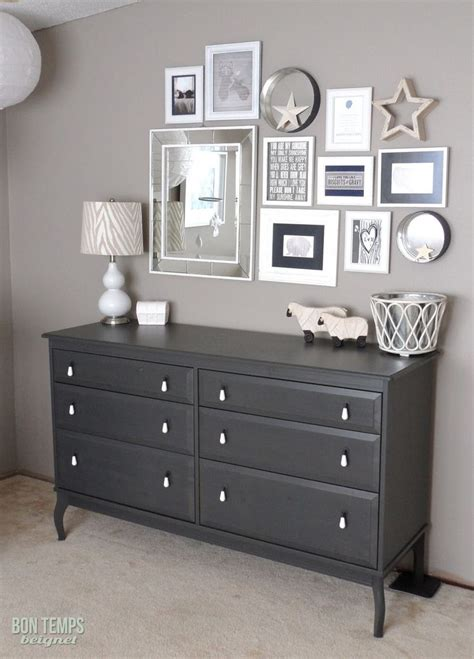 grey bedroom with dark furniture paint behr s perfect taupe from love the l too bon