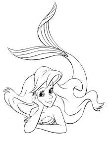 little mermaid coloring page free printable images