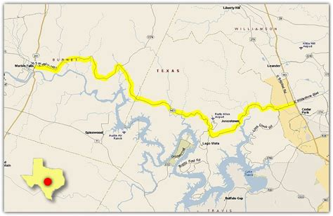 marble falls texas map maps routes
