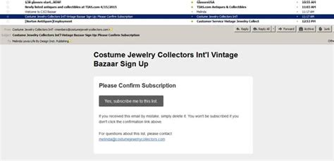 mailchimp confirm subscription template costume jewelry collectors int l bazaar sign up
