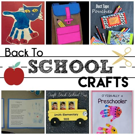Taking The Kiddos To School by Back To School Preschool Crafts Without Answers