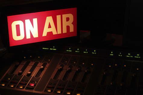 On Air In on air radio studio horizontal radio dx