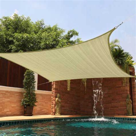 sun shade 12x12 square top sail beige sand for deck